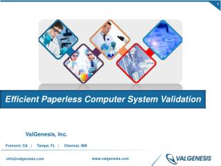 Efficient Paperless computer System Validation
