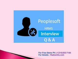 peoplesoft hrms online training