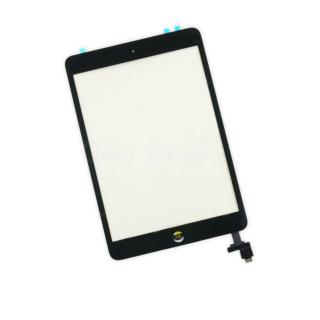 For iPad Mini 1/2 Glass and Digitizer Assembly Replacement with IC chip and Home Button Assembly - Black