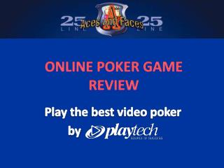 25 line Aces and Faces Video Poker Review
