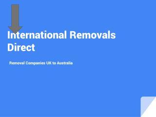 International Removal Companies UK to Australia | Moving Home to Australia
