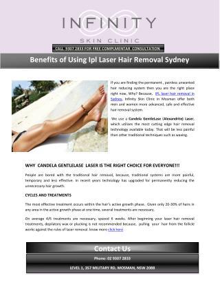 Benefits of Using Ipl Laser Hair Removal Sydney