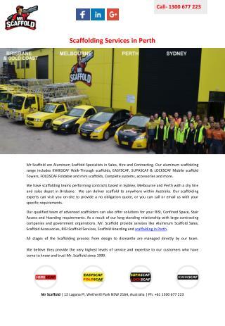 Scaffolding Services in Perth