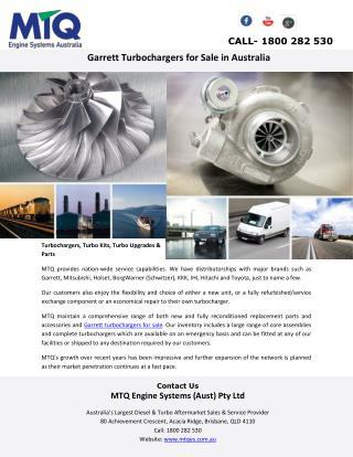 Garrett Turbochargers for Sale in Australia