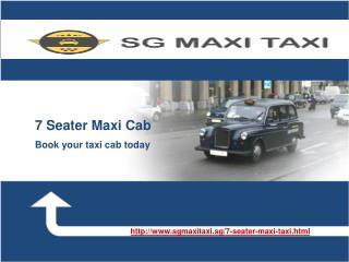 7 Seater Maxi Cab
