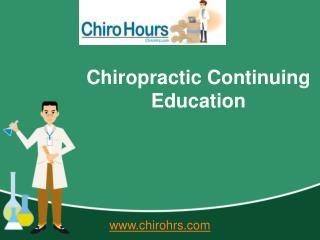 Chiropractic Seminars - Chiro Hours