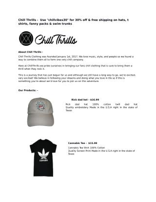 Affordable Online Clothing Stores for Students in Texas At Chill Thrills Clothing
