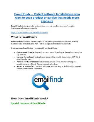 EmailFindr review-$26,800 bonus & discount