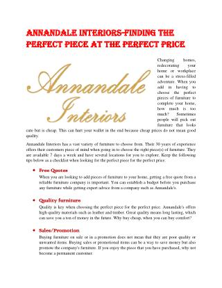 AnnanDaleInteriors-Finding the Perfect Piece at The Perfect Price
