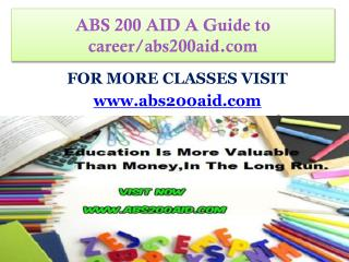 ABS 200 AID A Guide to career/abs200aid.com