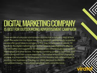 Digital Marketing Company is best for outsourcing advertisement campaign