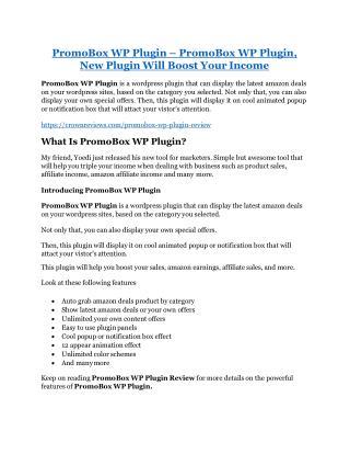 PromoBox WP Plugin  review and (COOL) $32400 bonuses