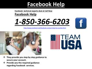 Will Facebook Help @1-850-366-6203 team help me in a quick manner?