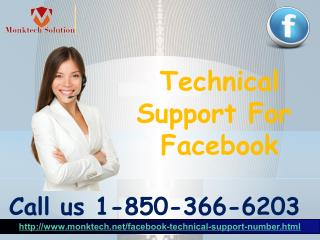 What sort of flaws can be tackled by the Technical Support For Facebook group 1-850-366-6203?