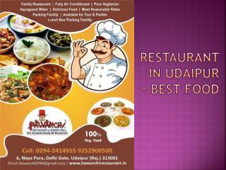 Restaurant in Udaipur - Best Food