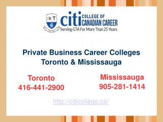 Private Colleges in Toronto & Engineering Training Courses – Citi College