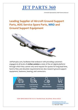 Jet Parts 360 - Distributor of Aircraft Ground Support Parts