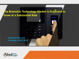 The Biometric Technology Market is Projected to Grow at a Substantial Rate