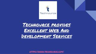 Technource provides Excellent Web Development Services