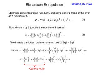 Richardson Extrapolation