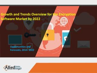 Growth and Trends Overview for the Encryption Software Market by 2022
