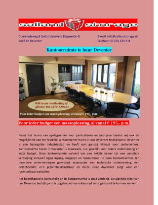 kantoorruimte deventer | Kantoorruimte te huur Deventer bedrijfspand