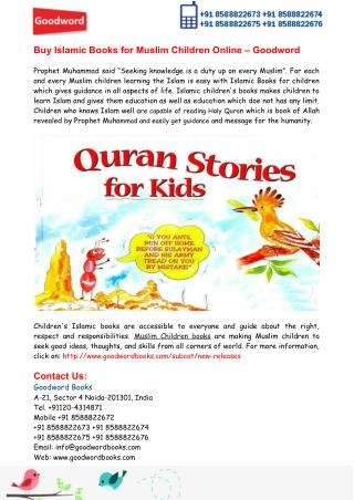 Buy Islamic Books for Muslim Children Online