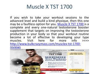 Muscle X TST 1700