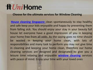 Choose for the ultimate services for window cleaning