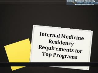 Internal Medicine Residency Requirements for Top Programs