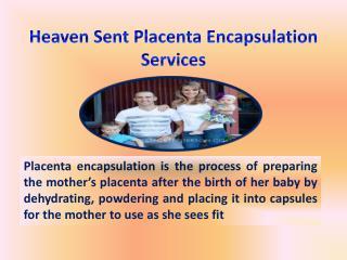 Heaven Sent Placenta Encapsulation Services