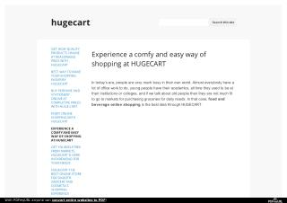Experience a comfy and easy way of shopping at HUGECART
