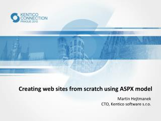 Creating web sites from scratch using ASPX model