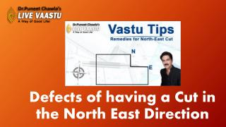 Defects of having a cut in the North East Direction.