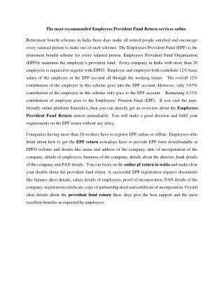 Employment PF registration India – enterslice
