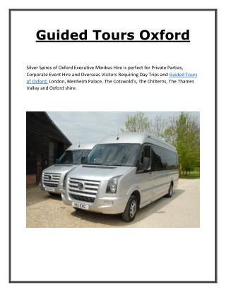 Guided Tours Oxford - Silverspires.co.uk
