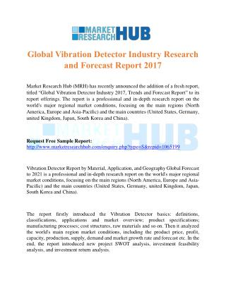 Global Vibration Detector Industry Research and Forecast Report 2017