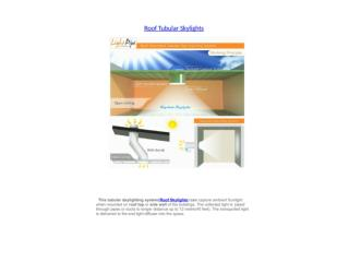 Roof mounted tubular skylights| Roof skylights