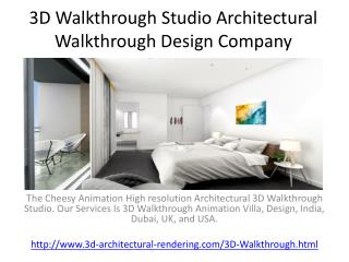 3D Walkthrough Studio Architectural Walkthrough Design Company