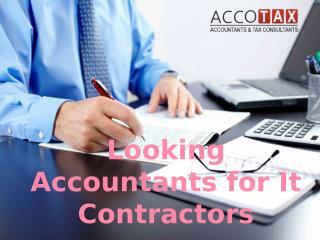 Looking Accountants for IT Contractors