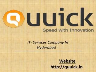 Web Development Companies in Hyderabad | quuick