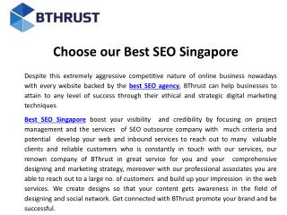 Choose our best seo Singapore