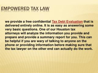 Houston Tax Lawyer