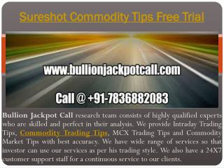 Sureshot Commodity Tips Free Trial | Intraday Commodity Tips