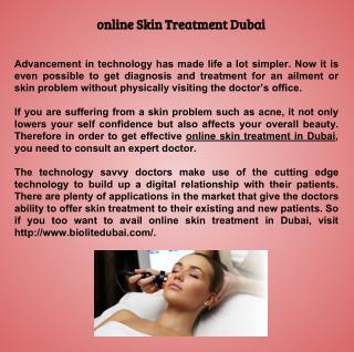 online Skin Treatment Dubai