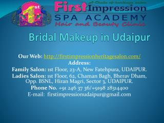 Bridal Makeup in Udaipur-Best_price