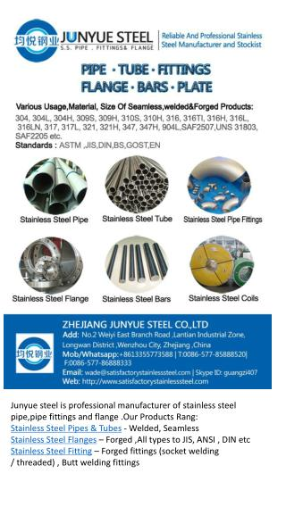 High quality stainless steel pipe ,fittings and flange