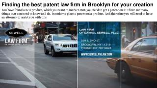 Finding the best patent law firm