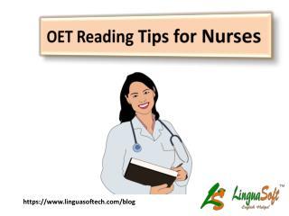 OET Reading Tips for Nurses