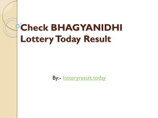 How to Check Bhagyanidhi Lottery Result